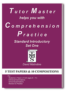 Tutor Master helps you with Comprehension Practice Standard Introductory Set One cover