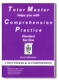 Tutor Master helps you with Comprehension Practicebook cover