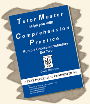Tutor Master helps you with Comprehension Practice – Multiple Choice Introductory Set Two