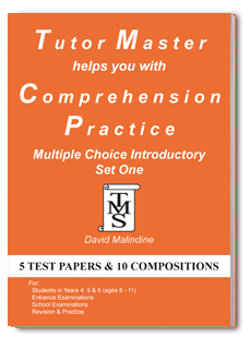 Tutor Master helps you with Comprehension Practice Multiple Choice Introductory Set One cover