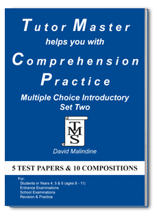 Tutor Master helps you with Comprehension Practice Multiple Choice Introductory Set Two cover